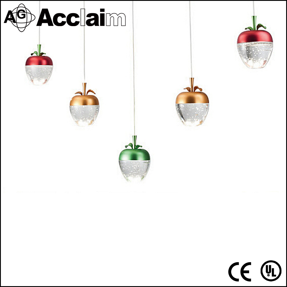 Modern Decorative Ceiling Mount Chandelier Lights Nordic Style Crystal Apple Lamp for Living Room