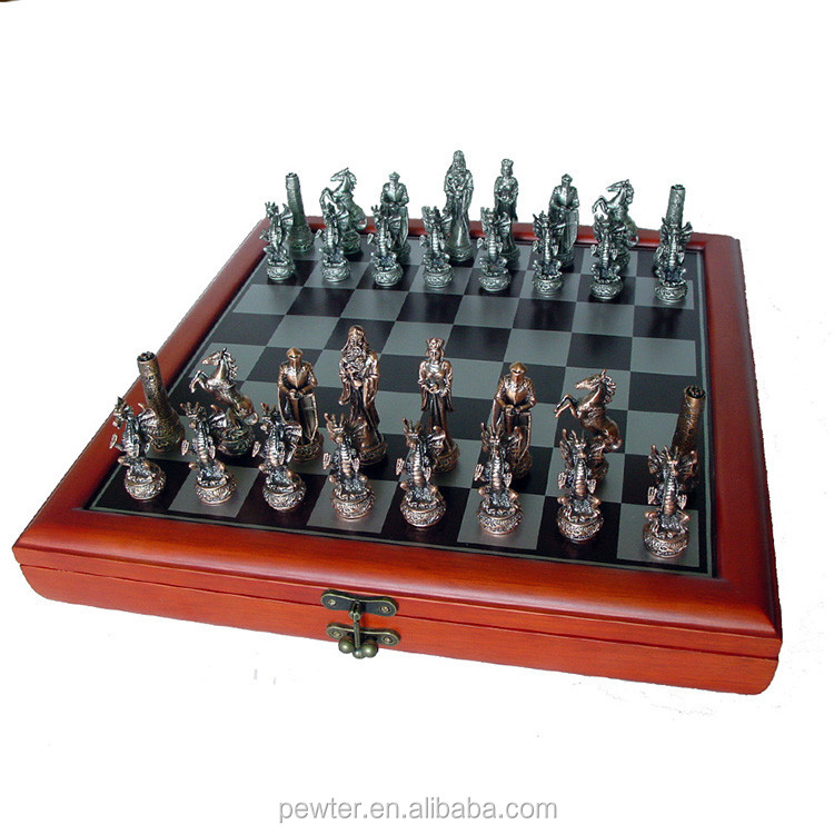 wooden folding chess game set for indoor game ,antique and luxury chess set,wooden folding chess game with board