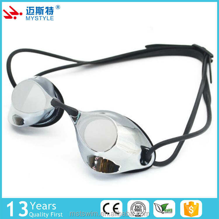 New products high end mirrored wide hot sale swimming goggles