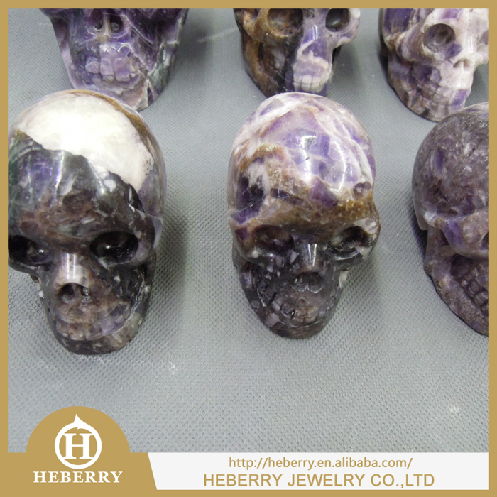 2015 Wholesale amethyst natural human skull for Halloween