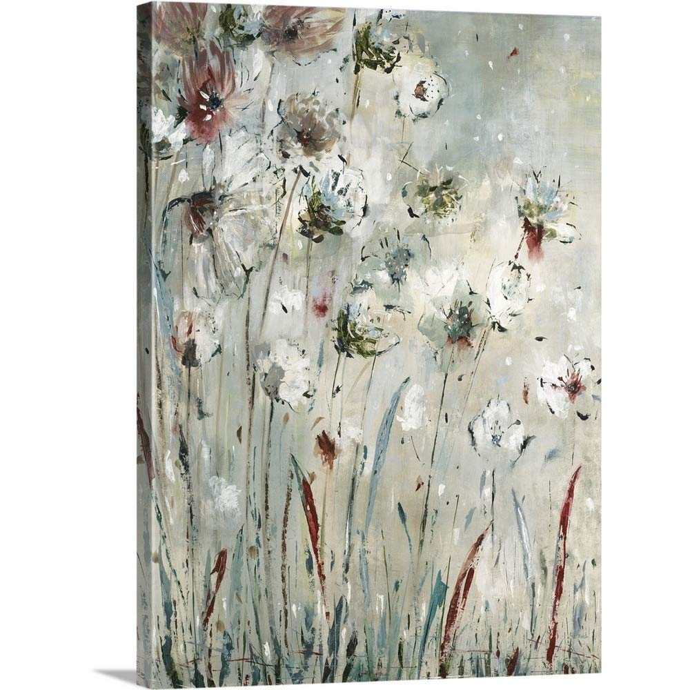 """GREATBIGCANVAS Gallery-Wrapped Canvas Entitled Night Flowers by Jill Martin 27""""x36"""""""