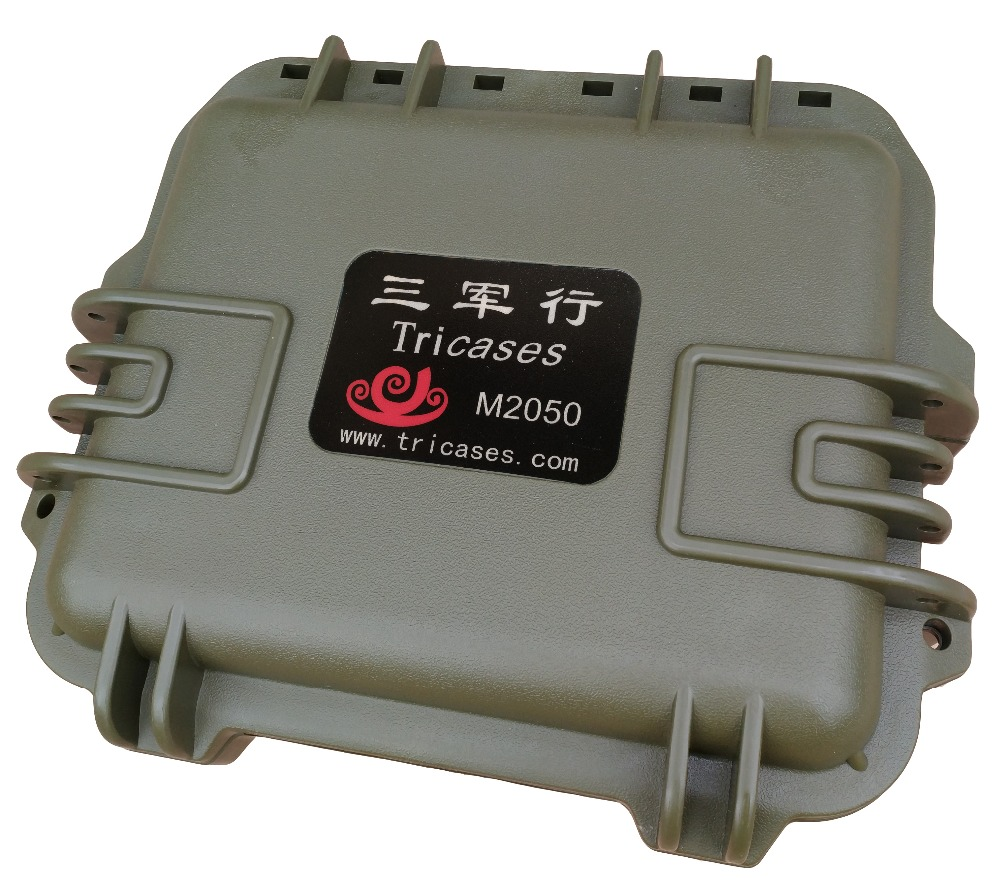 Tricases factory military standard IP 67 waterproof injection molded hard PP <strong>plastic</strong> small tool <strong>case</strong> with pre-cut foam M2050
