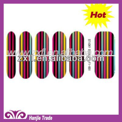2012 Hot and Latest Fingernail Sticker Wraps Nail Decoration
