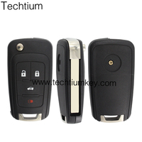 High quality NEW replaced new key case 4 button car flip remote key shell fobs with logo for Mitsubishi