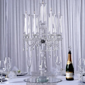 Latest Arrival High-Quality Safety Packing Cheap Wedding 5 Arms crystal candelabra