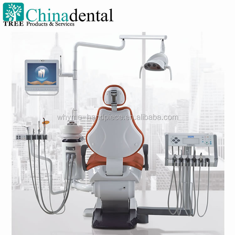 2017 Human Friendly dental chairs unit price with LED display and Automatic Disinfection Design, Rotary type dentist unit