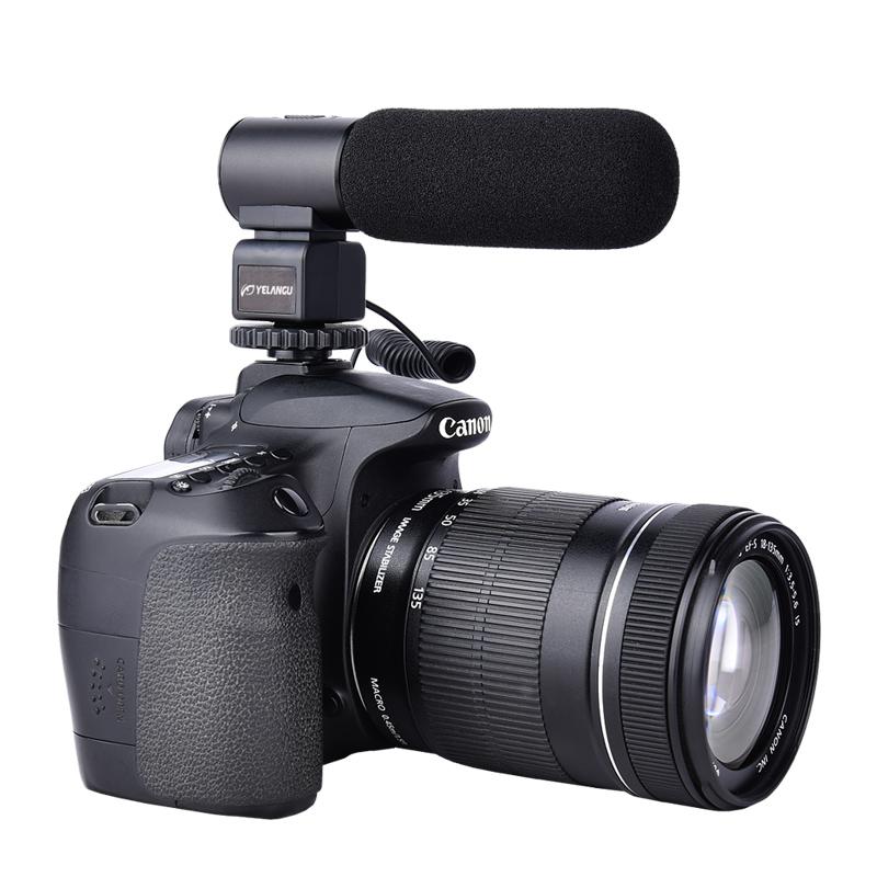 YELANGU DSLR Fotoğraf Makineleri için Yeni Üretilmiş Profesyonel Kayıt Mikrofonları Mic03