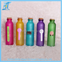 Wooden cork lid on 350ml 12oz painting glass bottle home decoration use glass bottle for gift