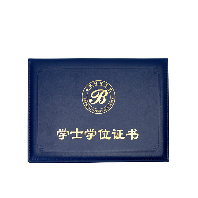 Custom folie stempel pu leather cover diploma bestand certificaat map
