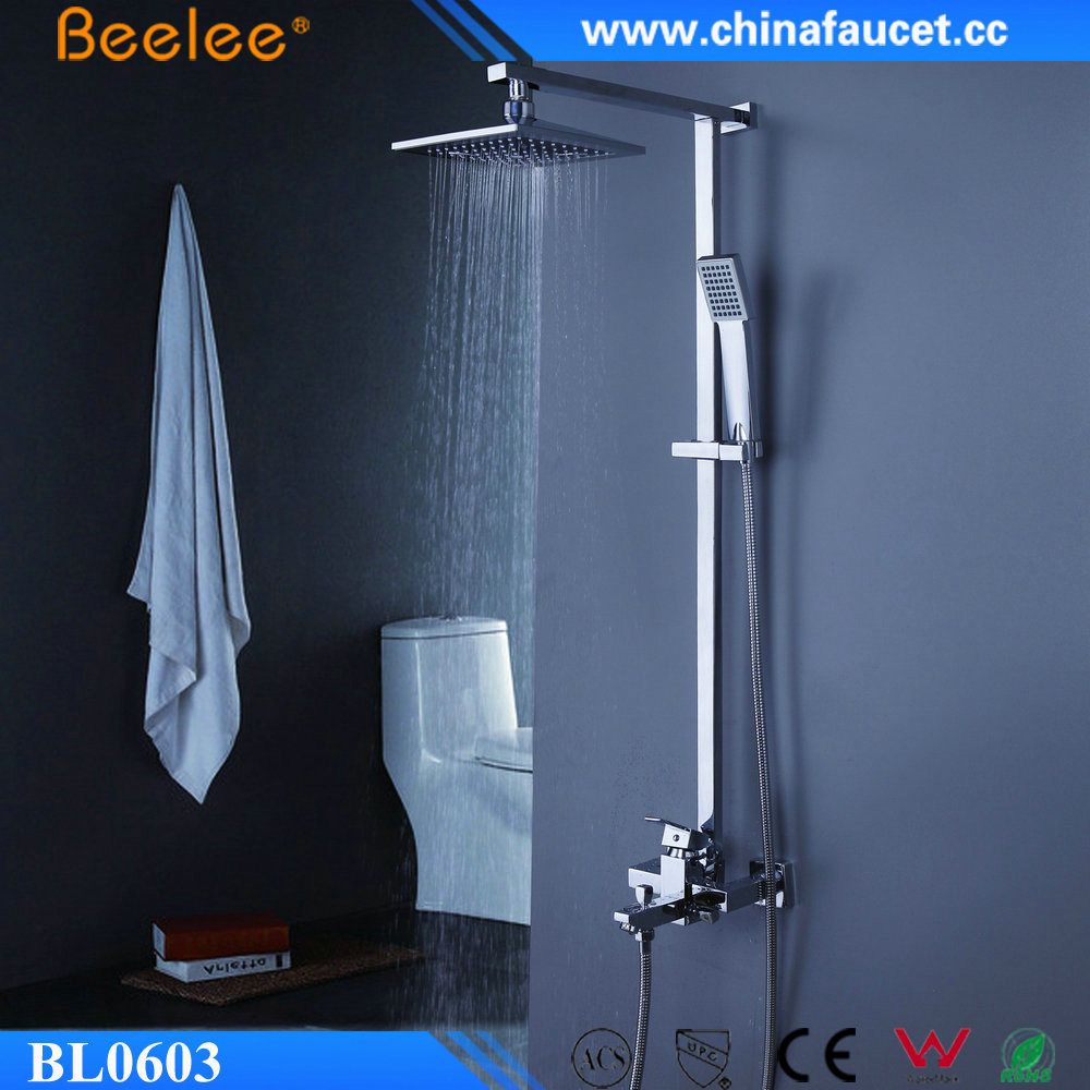 Beelee Bl0603 Luxury Big Rainfall Bathroom Shower Faucet Set With ...