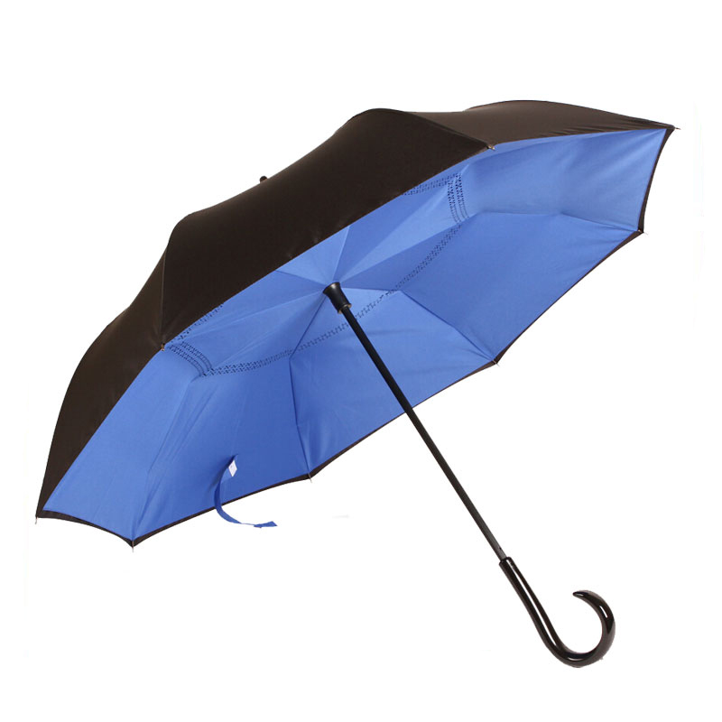 Rubber Tips Reverse Dropshipping Umbrella Inverted Reverse Umbrella