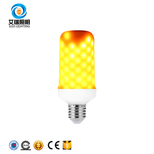 E27 E26 2835 LED Flame Effect Fire Light Bulbs 7W Creative Lights Flickering Emulation Vintage Atmosphere Decorative Lamp