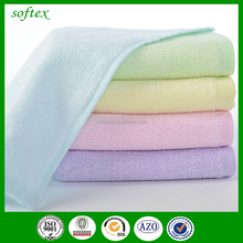 solid color organic bamboo wholesale terry cloth baby wash cloth
