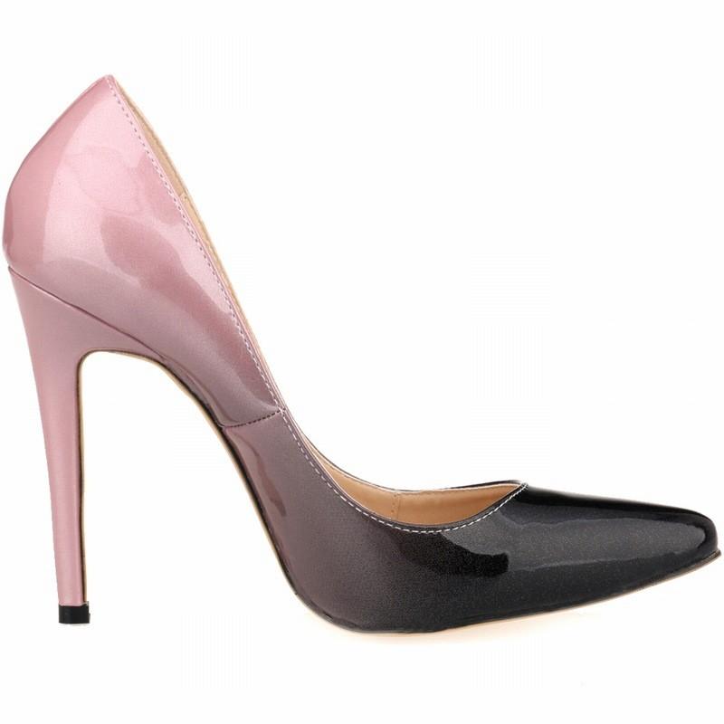 2017 big size wholesale gradient color high heel