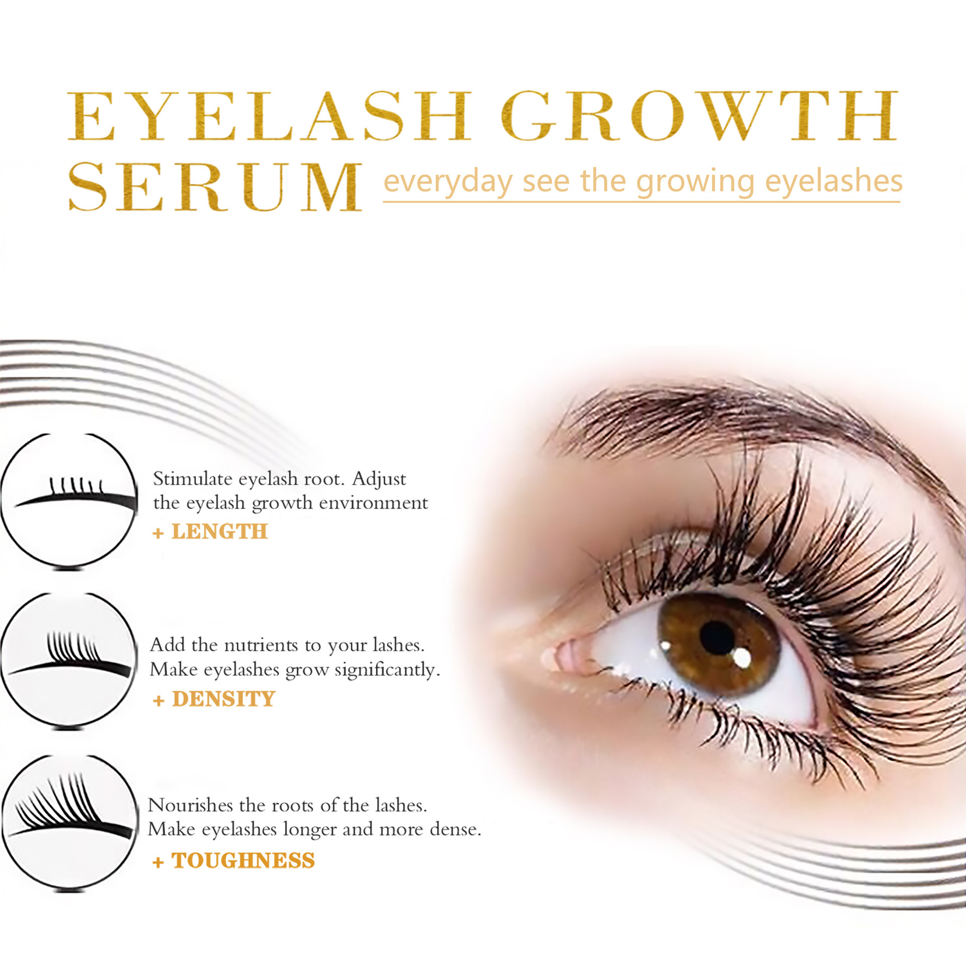 Eyebrow Eyelash Growth Serum Private Label Eyelash Serum