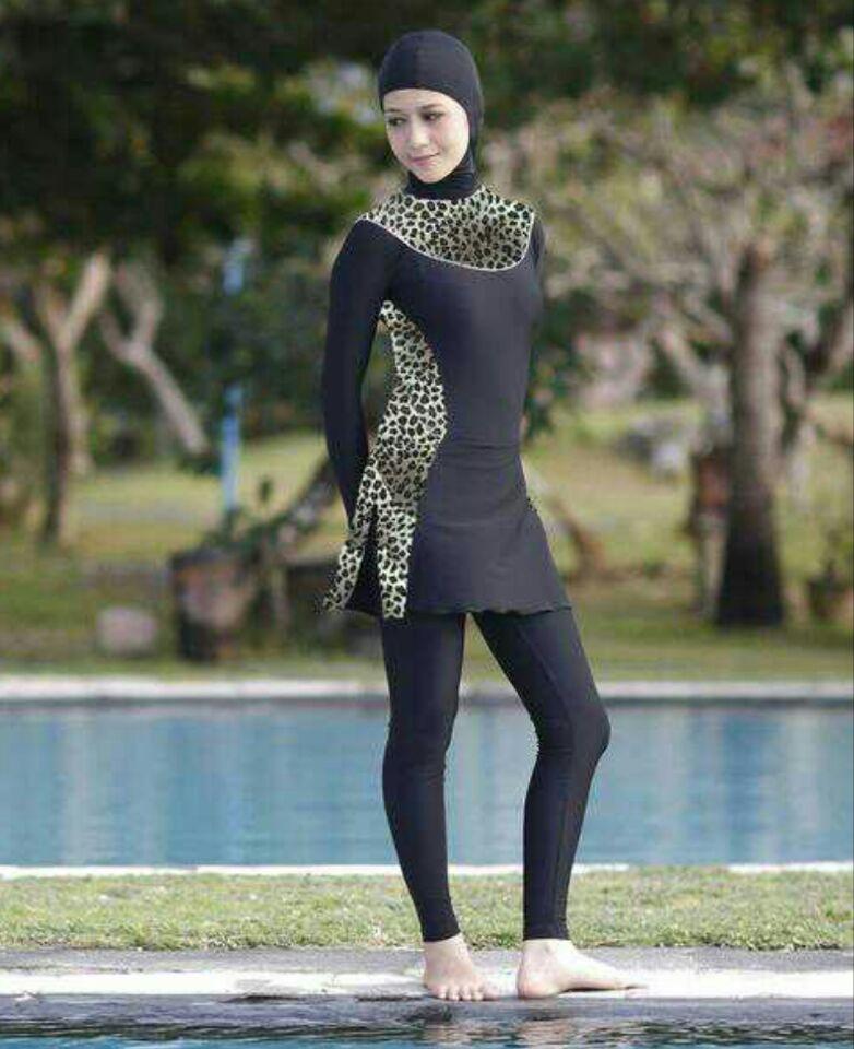 237f066086ee9 Modest Muslim Swimwear Islamic Swimsuit For Women hijab swimwear full  coverage swimwear muslim swimming beachwear swim suit