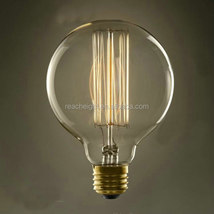 Ball Shape Filament Edison Style Light Bulbs G125 110-130v 220 ...