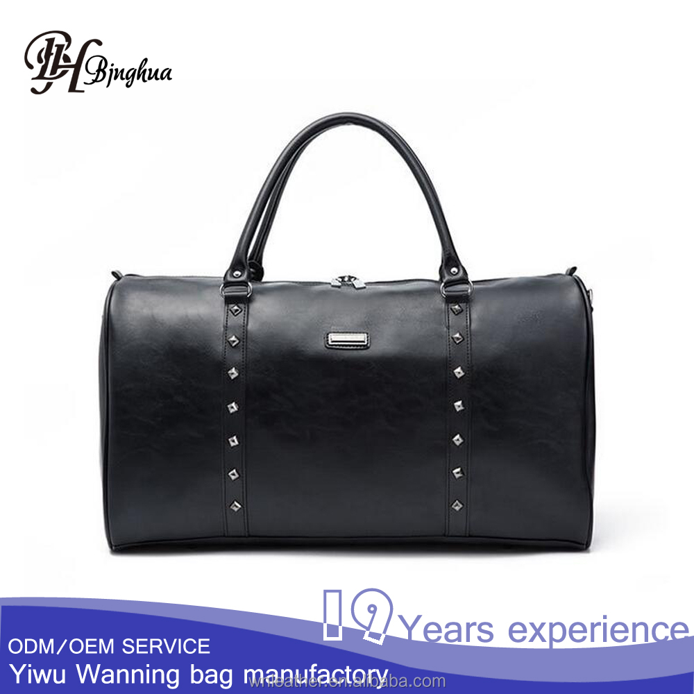 AL-091 High quality unisex Synthetic Leather tote duffel bag for outdoors <strong>traveling</strong>