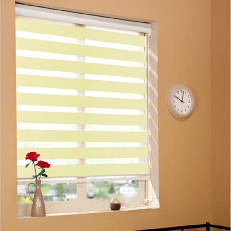 Motorized Remote Control Double Jacquard Zebra Roller Blind Curtain