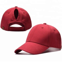 0af24b3f77da23 Womens Ponytail Hat Cotton 6 Panel Golf Baseball Cap Custom High Quality  Running Hat and Cap