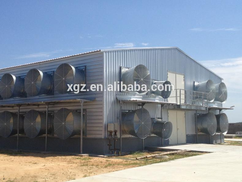 Closed poultry house Type and Steel material poultry farming shed