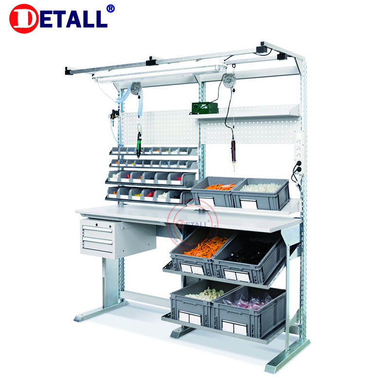 Detall Superior Station Packing Tables For Warehouse