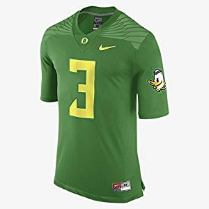 Get Quotations ·  3 Oregon Ducks Nike Apple Green Replica Game Football  Jersey (Medium) 618b3cc1e
