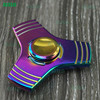 Wholesale top seller anti anxiety desk toy alunimun alloy beautiful caps custom logo accespted flashing fidget spinner