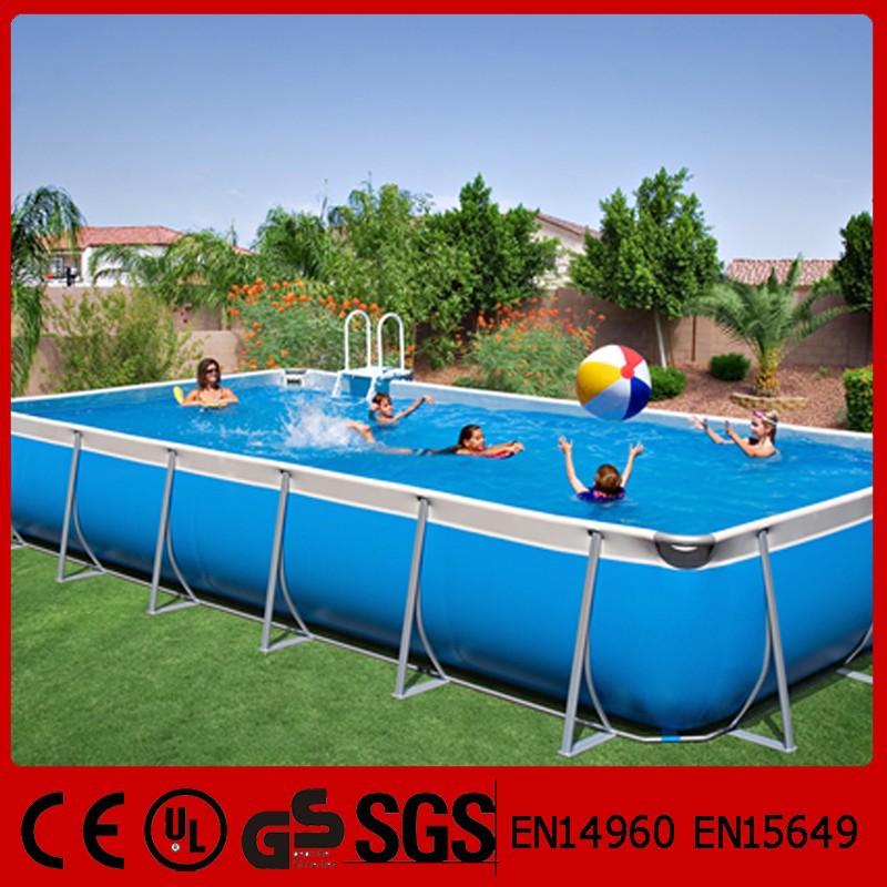Acima do solo ao ar livre retangular de borracha piscina for Piscina plastico rectangular