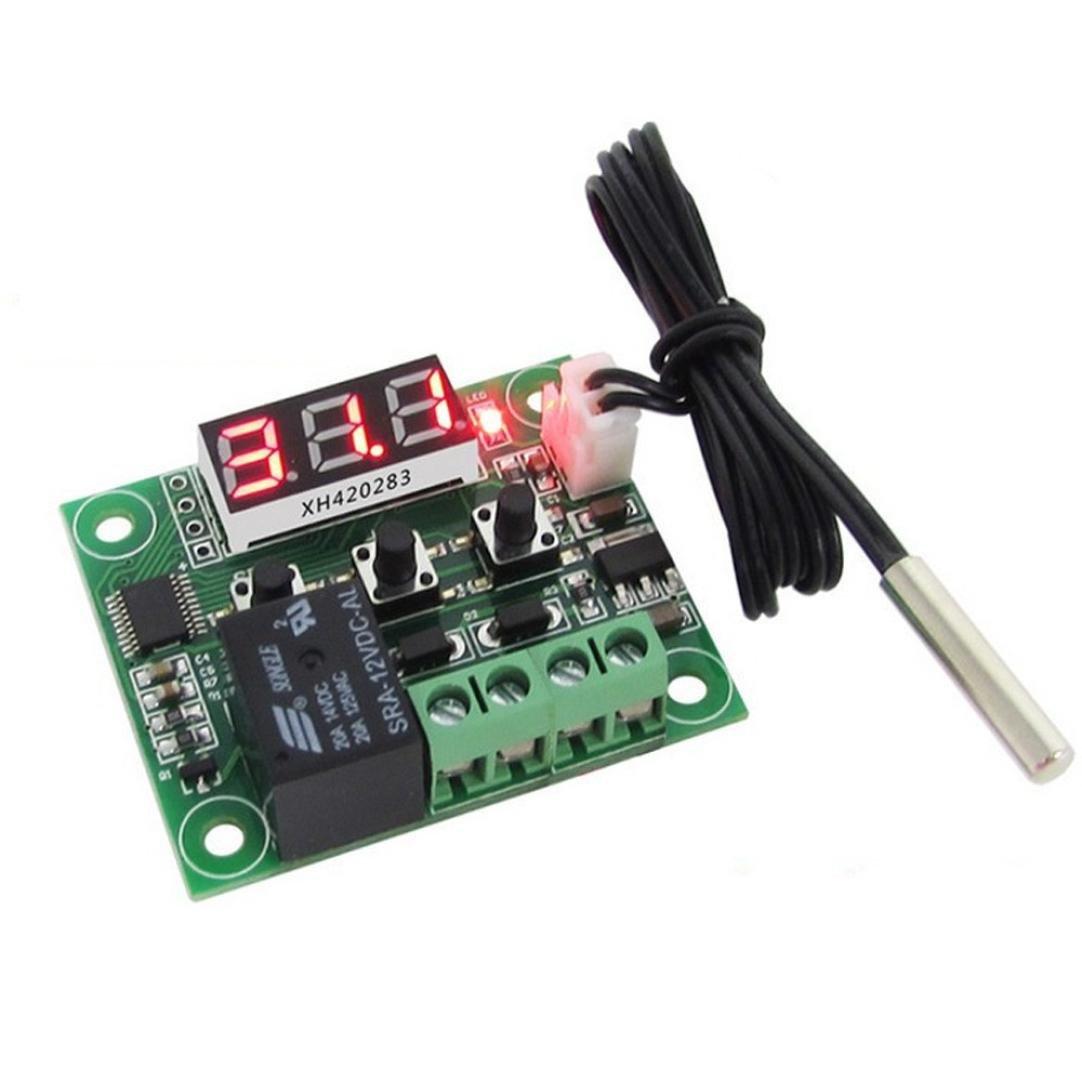Digital Temperature,LtrottedJ -50-110°C W1209 Digital thermostat Temperature Control Switch 12V + sensor