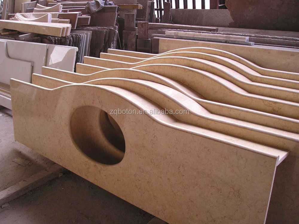 Salable Spray White Granite Vanity Tops Stone Table Tops For Shopping Mall  Projects