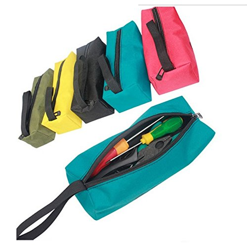 SNNplapla Multifunctional Oxford Fabric Storage Tool Pouch Bag Utility Bag for Small Metal Parts Tools (240x85x70mm)