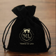 black jewelry pouch black velvet bags satin jewelry bags with logo