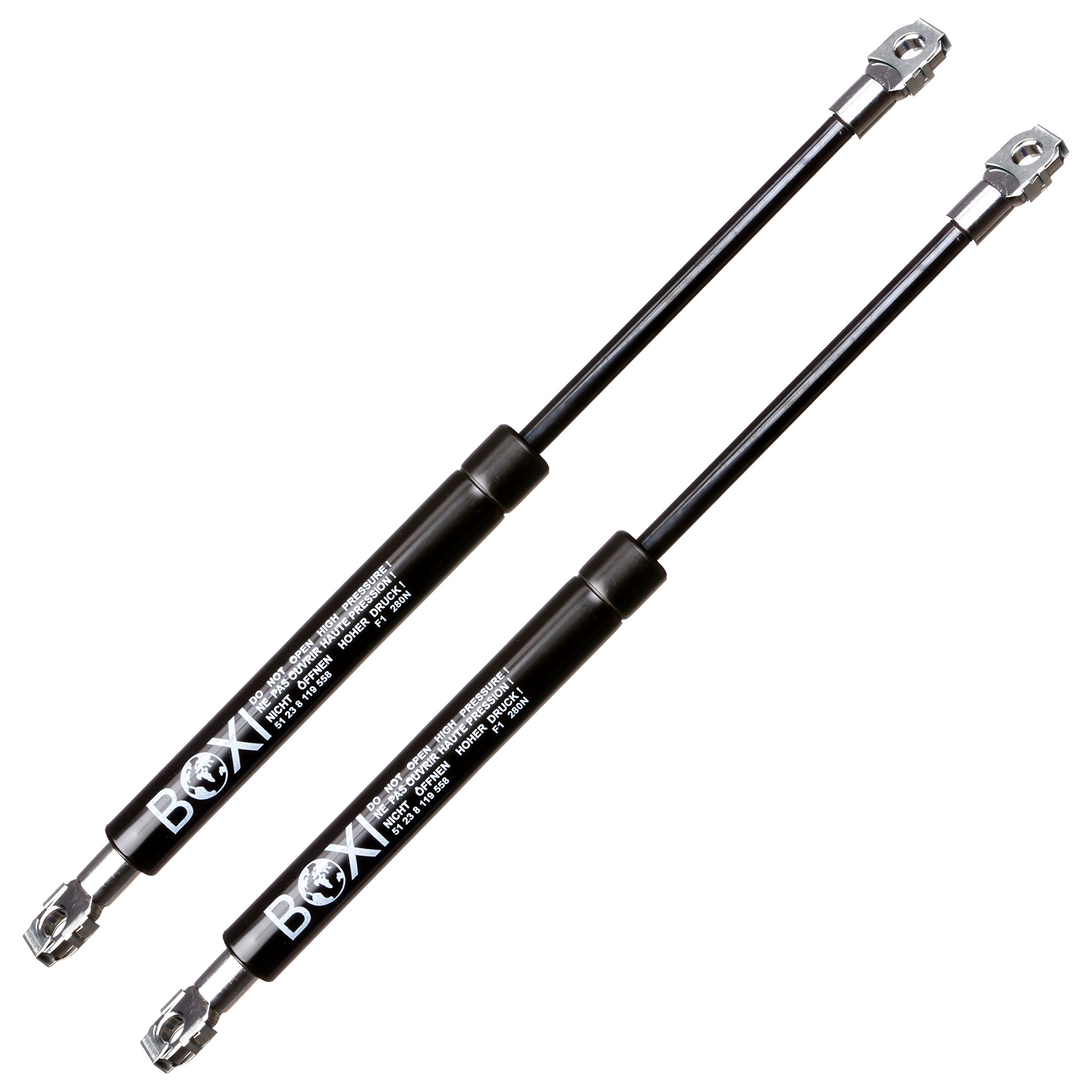 BOXI 2pcs Front Hood Gas Charged Lift Supports Struts Shocks Spring Dampers For BMW E36 3 Series Convertible Coupe 1992-1999 Hood , 51238119558, SG302008, 6341