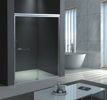 Deluxe Tempered Sliding Shower Glass Partition - Buy ...