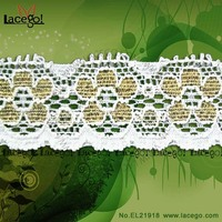 Factory Direct Raschel Knitted Fabric Foil Lace