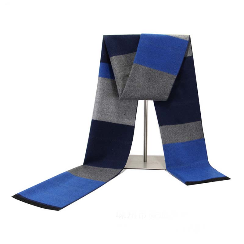 Wholesale autumn winter men's  custom plaid wool spinning thicker scarves
