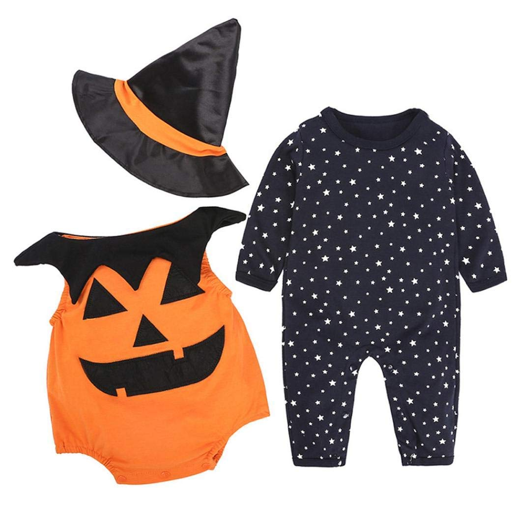 Bonnie Jean Girls Orange Ghost Boo Halloween Fall Tutu Dress Legging 3M 6M 9M