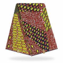 Африканский батик восковой ткани Кенте воск Анкара вощеная ткань с Африканским узором восковые принты золотого цвета Тонкая Ткань 6 ярдов ш...(Китай)