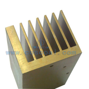 cooling aluminum heat sink profile with CNC machining and anodizing