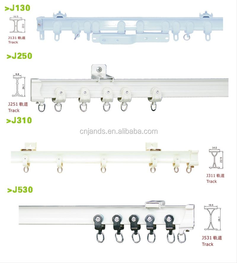 Stardeco 2019 top design aluminum alloy flexible bathroom thin curtain tracks curtain rod