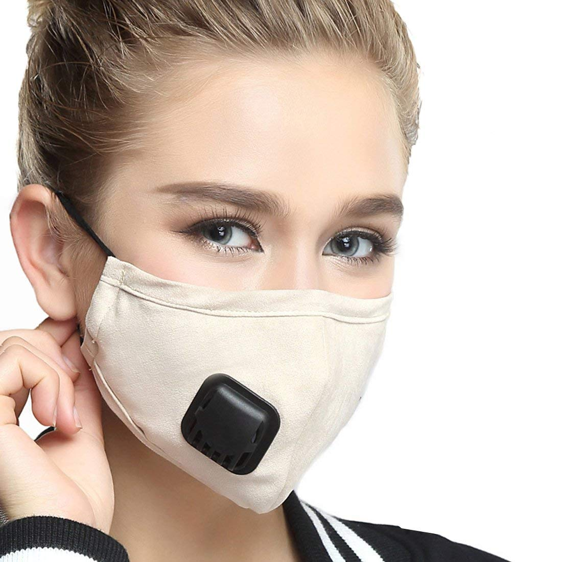 bca9e85df24 Get Quotations · Healthyair Masks PM 2.5 Anti Pollution Mask With Valve  Pynogeez Washable Dust Respirator Cotton Mouth Masks