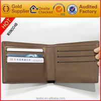 Men's travel wallet/canvas cheap wallet/leather trifold wallets for men wholesale
