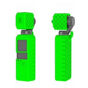 Original Factory PULUZ 2 in 1 Diamond Texture Silicone Cover Case Set for DJI Osmo Pocket 3-Axis Stabilized Handheld Camera