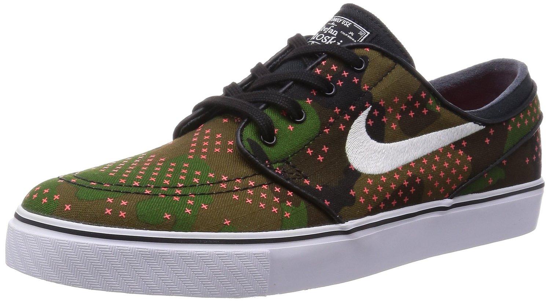 0b218c64ea42 Nike SB Men s Stefan Janoski Canvas Premium Skateboarding Shoes 8.5 M US  Camo Green