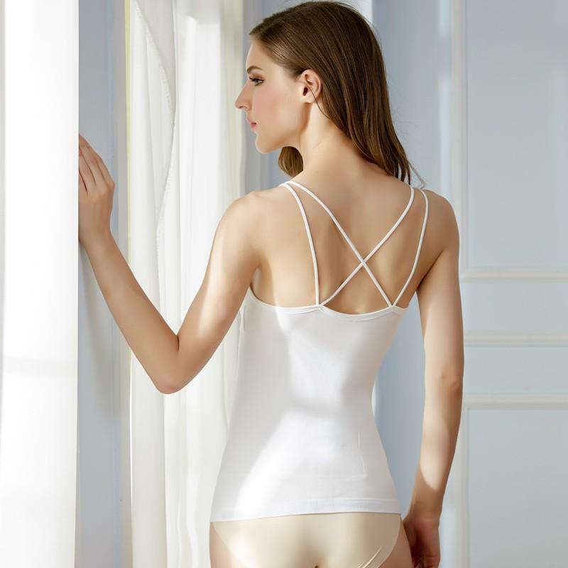 Women Sexy Back Cross Bodyshaper Seamless Comfortable Shoulder Vest Girl Push-up Bra Sets Camisole 8