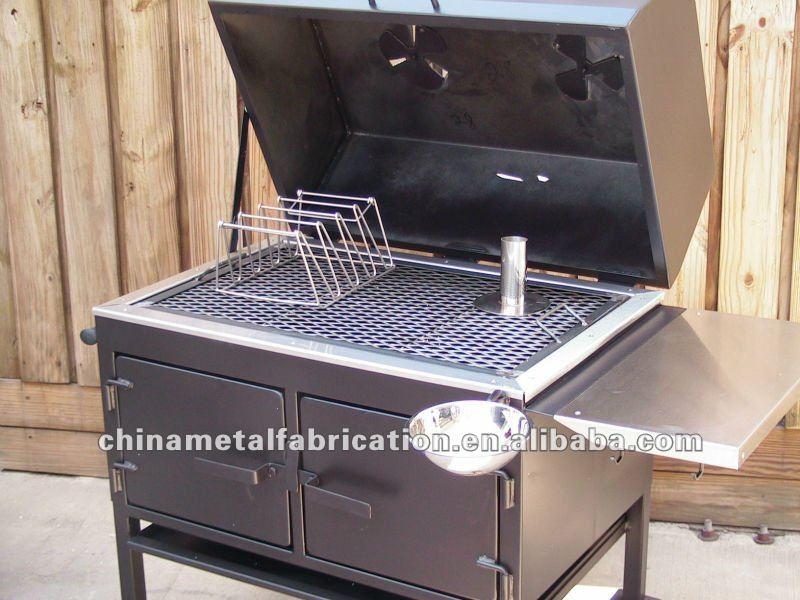 Professionale in piedi carbone di legna fumatori griglia - Griglia da cucina ...