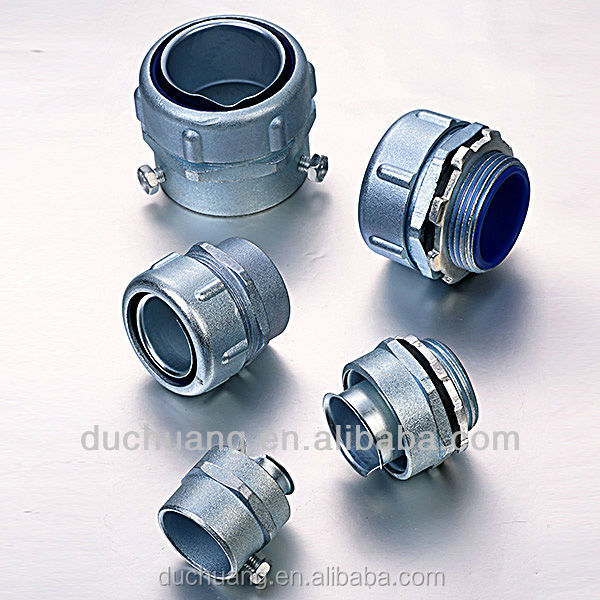 zinc alloy industrial conduit fittings electrical flexible connector