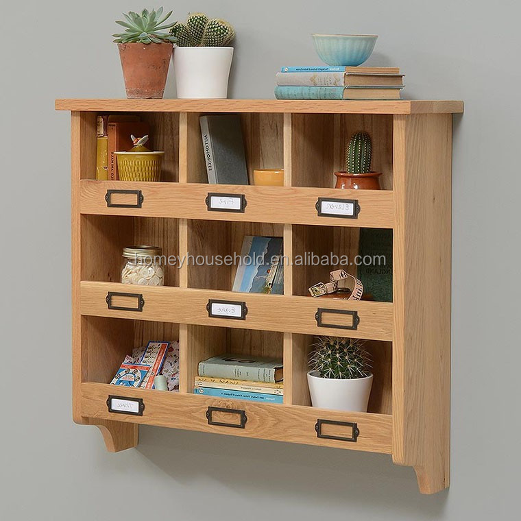 Hot sale simple wall mounted commercia solid wood wall unit