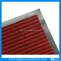 Polyester rib entrance mat fire proof door mat outdoor floor mat